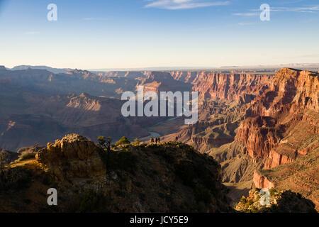 Il fiume Colorado dal bordo Sud del Grand Canyon Foto Stock