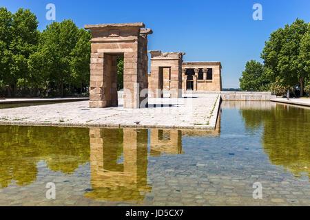 Tempio di Debod a Madrid - Spagna Foto Stock