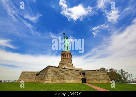 La Statua della Libertà, la città di New York, New York, Stati Uniti d'America Foto Stock
