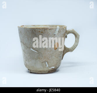 Weathered cup dall'oceano pavimento Foto Stock