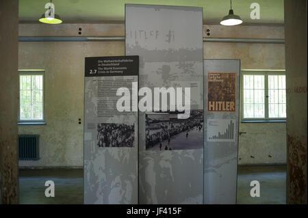 03.06.2017, Dachau, Baviera, Germania, Europa - mostra nel museo presso il memoriale del campo di concentramento di Dachau.