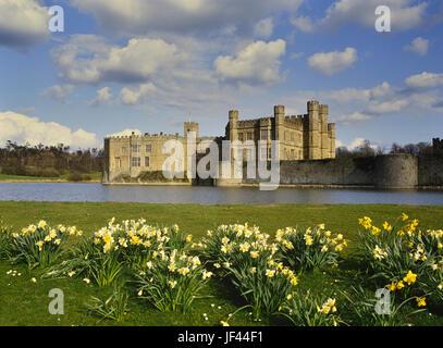 Primavera al Castello di Leeds. Kent. In Inghilterra. Regno Unito Foto Stock