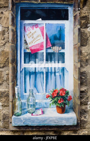"""Trompe loeil, Knaresborough """"città"""" di Windows"""
