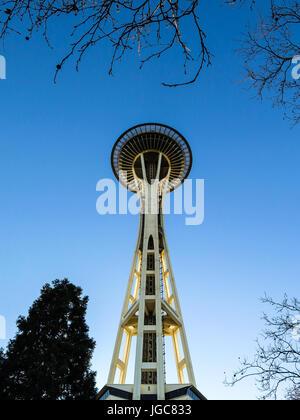 Seattle Space Needle - una prospettiva diversa Foto Stock