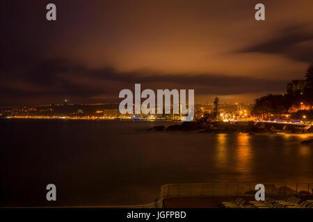 Skyline di Viña del Mar Cile durante la notte