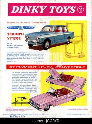Meccano Magazine - a pieno colore pagina Dinky Toy inserzioni - 1964 -  giocattoli realistici in 6e5ce8aaebf