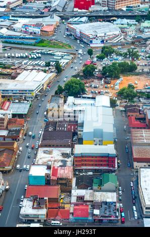 Rundown Johannesburg cityscape dalla sommità del Carlton Centro, Johannesburg, Sud Africa e Africa Foto Stock
