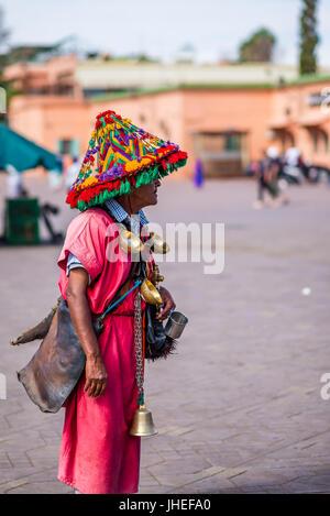 Marrakech, Marocco - Circa nel settembre 2015 - tradizionalmente un marocchino guarnito Foto Stock