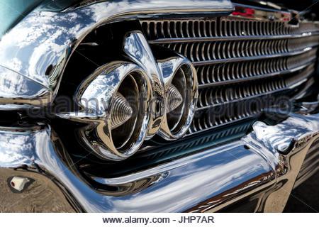Classic car dettaglio shot Foto Stock