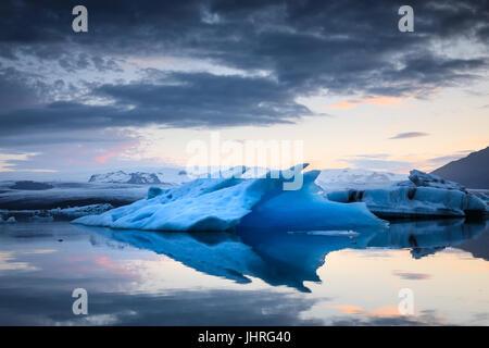 Laguna di ghiaccio in Islanda Foto Stock