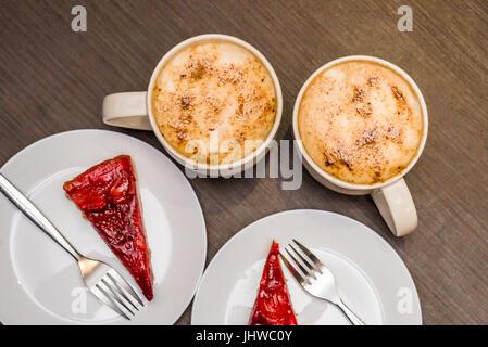 Caffè e torte Foto Stock