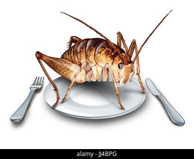 Mangiare bug e mangiare gli insetti come cucina esotica e
