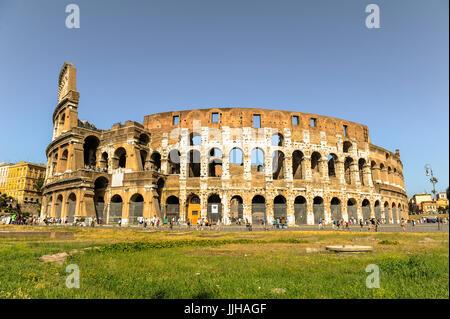 Colosseo a Roma, Italia Foto Stock