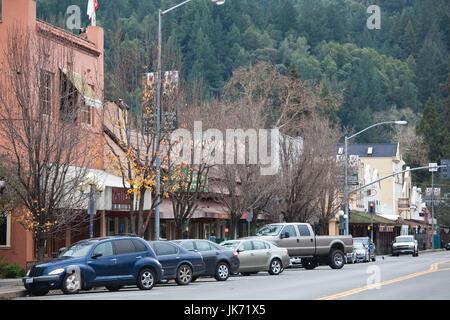 Stati Uniti d'America, la California, la California del Nord, Napa Valley Wine Country, Calistoga, downtown