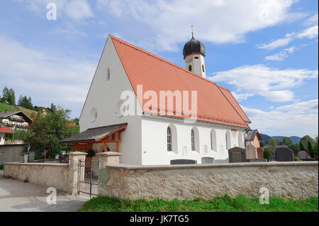 Chiesa parrocchiale di San Giacomo, Wallgau, Baviera, Germania   Pfarrkirche St. Jakob, Wallgau, Werdenfelser Land di Baviera, Deutschland