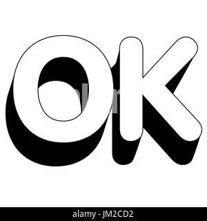 Segno di mano OK Foto Stock