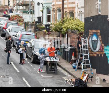 Bristol, Regno Unito. 29 Luglio, 2017. UPFEST. Il più grande d'Europa street art festival è in corso in Bristol. Foto Stock