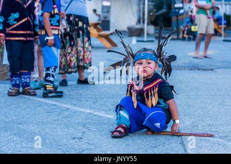 Vancouver, Canada. 30 lug 2017. Il tamburo è chiamando Festival, Canada 150 evento, Larwill Park, Vancouver, British Foto Stock