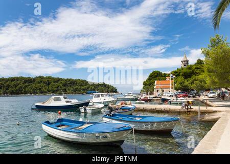 Cavtat villaggio ed un porto (Konavle, Dubrovnik, Dubrovnik-Neretva county, regione di Dalmazia, Croazia, Europa) Foto Stock