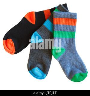 Tre coppie di Little Boy calzini del. Foto Stock
