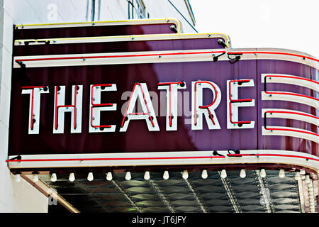 Teatro Vintage segno Foto Stock