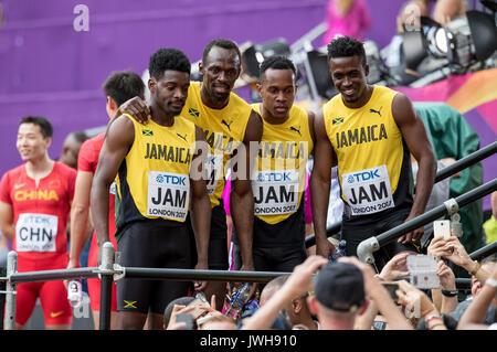 Londra, Regno Unito. 12 Ago, 2017. La Giamaica. , . Il giorno 9 presso il parco olimpico di Londra, Inghilterra Foto Stock