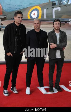 """Premiere mondiale del 'Dunkirk"""" tenutasi presso l' Odeon Leicester Square - Arrivi con: Busted dove: Londra, Regno Foto Stock"""