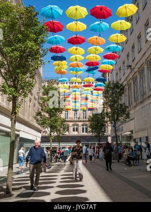Il progetto ombrello - scultura in Liverpool