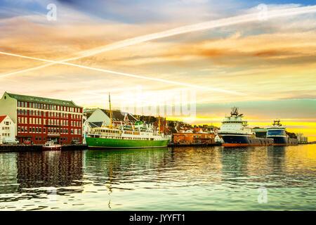 Una vista del centro della città di Stavanger, in Norvegia. Foto Stock