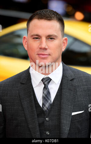 Channing Tatum frequentando il Logan Lucky UK Premiere detenute a Vue West End nel quadrato di Leicester, Londra. Foto Stock