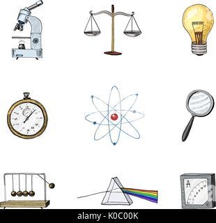 4c41532682f Atom disegnata con formula. Vettore illustrazione astratta su bianco ...