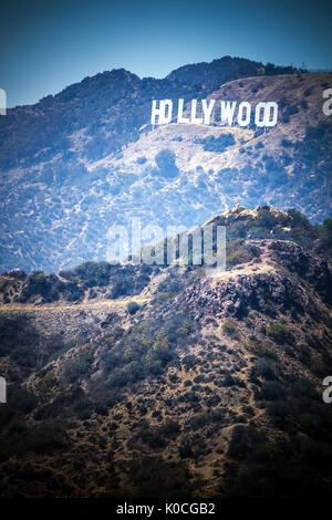 Segno di Hollywood Foto Stock