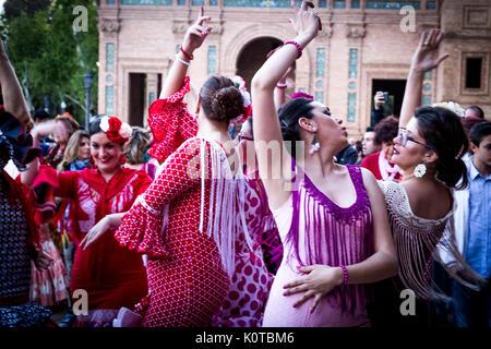 Feria de Abril Foto Stock