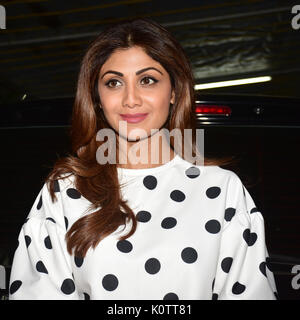 "Mumbai, India. 23 Ago, 2017. Indian film attrice Shilpa Shetty in occasione della proiezione del film ""niff' a Sunny Foto Stock"