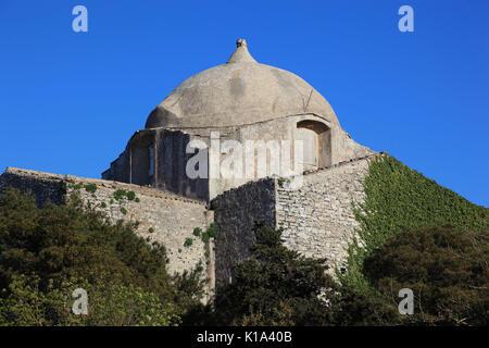 Sicilia, villaggio di Erice in provincia di Trapani, Chiesa di San Giovanni Battista, dal XII secolo Foto Stock