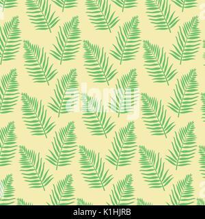 Colore di sfondo verde modello di foglie di palma