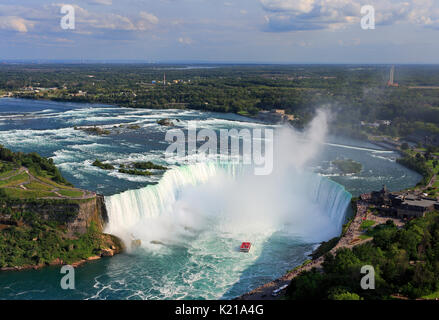 Cascate del Niagara, vista aerea, Canada Foto Stock