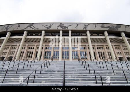 Mosca, Russia. Il 29 agosto, 2017. Immagine del Luzhniki Olympic Stadium presi a Mosca, Russia, 29 agosto 2017. Foto Stock