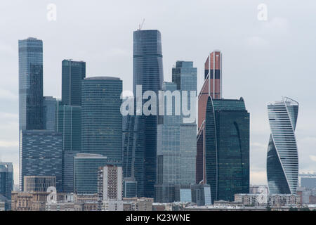 Mosca, Russia. Il 29 agosto, 2017. Foto di grattacieli nella città di Mosca distretto di Mosca, Russia, 29 agosto Foto Stock