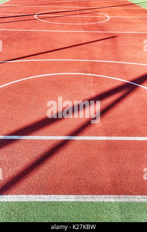 Outdoor playing field, sport in background o di texture. Foto Stock