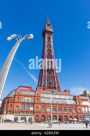 Blackpool, costa di Fylde, Lancashire, Inghilterra. La Blackpool Tower e Tower edifici, aperto il14 maggio 1894 Foto Stock