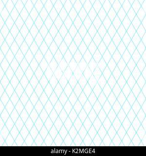 Sfondo blu con griglia diagonale Foto Stock