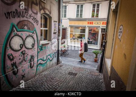 Città vecchia di Lubiana Foto Stock