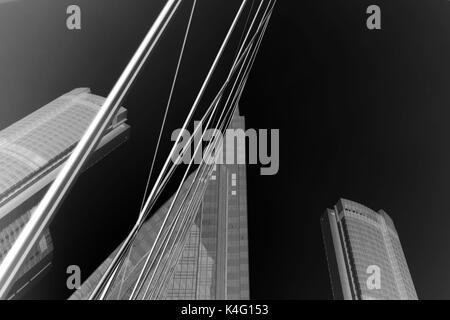 Edifici astratta sfondo con b&w a colori Foto Stock