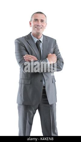 Bel colore grigio-dai capelli uomo maturo con Ben rifinito in barba ... 3cf8f10ba8dd