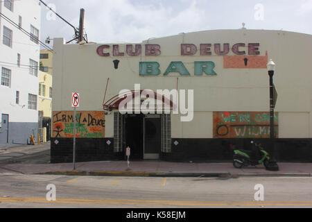 Miami Beach, deserte, pre uragano irma, 8 settembre 2017 Foto Stock