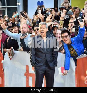 Toronto, Ontario, Canada. 9 Sep, 2017. GEORGE CLOONEY assiste 'Suburbicon' premiere durante il 2017 Toronto International Foto Stock