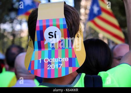 Barcellona, Spagna. Undicesimo Sep, 2017. Credito: dino geromella/alamy live news Foto Stock