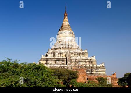 Bagan,Shwesandaw Paya tempio, il più importante tempio di Bagan, myanmar Foto Stock
