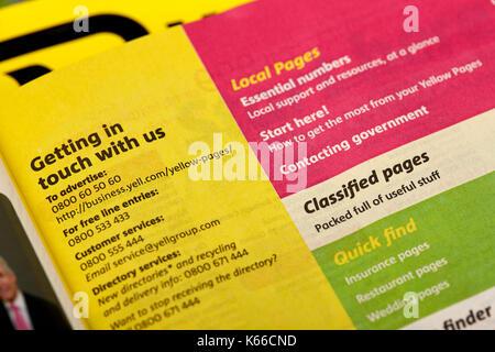 Indice per pagine gialle classificati elenco telefonico edizione